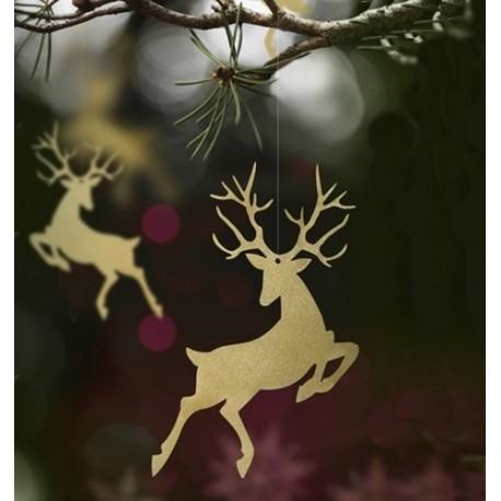 ZAWIESZKI świąteczne Renifer 10szt BIAŁE