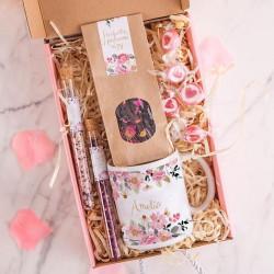 PREZENT na 40 urodziny Box Z IMIENIEM Kubek i herbata MAŁY