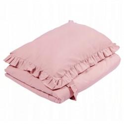 POŚCIEL do łóżeczka z falbanką 120x90cm Brudny Róż