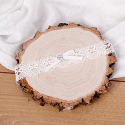 PODWIĄZKA ślubna biała z cyrkonią 21