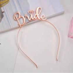 OPASKA dla Panny Młodej Bride metallic ROSEGOLD