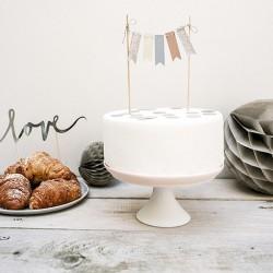 TOPPER na tort na urodziny Girlanda 20cm PASTELOWY