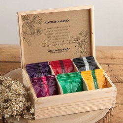 PREZENT na Dzień Matki Z PODPISEM Herbaciarka 36 herbat