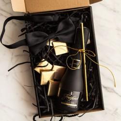 PROŚBA o Świadkowanie pudełko Z IMIENIEM Z winem Cava