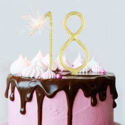 ZIMNE ognie na tort na 18 urodziny