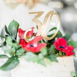 TOPPER na tort na 30 urodziny Złoty