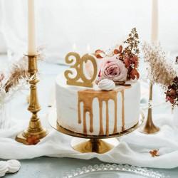 ŚWIECZKA na 30 urodziny brokatowa ZŁOTA