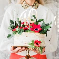 TOPPER na tort na 40 urodziny Złoty