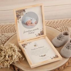 GRATULACJE dla Dziadków na Narodziny Wnuka, Wnuczki ZE ZDJĘCIEM dziecka Boho