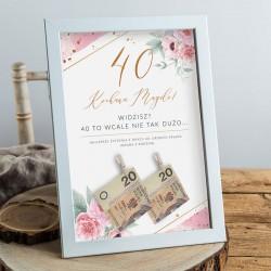 PREZENT na 40 urodziny Rama na Pieniądze Zapach Piwonii