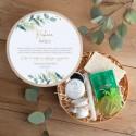 PREZENT 18,30,40 urodziny Box Z IMIENIEM Eukaliptusowe Odprężenie