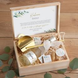PREZENT na 18,30,40 urodziny w skrzyni Z PODPISEM Prosecco Eukaliptus LUX