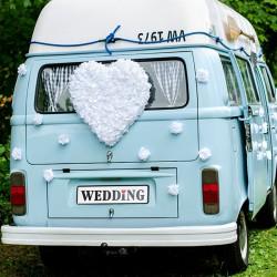 DEKORACJA samochodu ślubnego Serce Kwiatowe 50cm