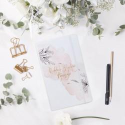 NOTATNIK ślubny Z IMIENIEM Subtelna Akwarela 80 kartek w kratkę