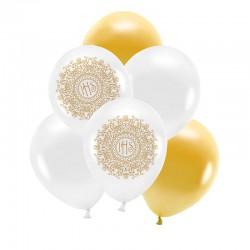 ZESTAW bukiet z balonów na Komunię ELEGANCKI ZŁOTY