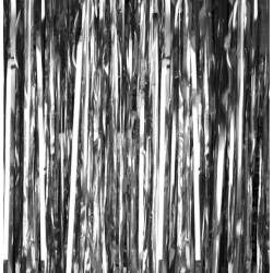 KURTYNA dekoryjna 2,5m CZERWONA
