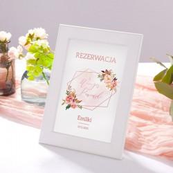 TABLICZKA Rezerwacja na stolik Rosegold Flowers (+ramka)