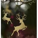 ZAWIESZKI świąteczne Renifer 10szt ZŁOTE