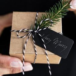 SZNUREK do pakowania prezentów 50m CZARNY