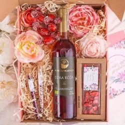 PREZENT na Ślub Z IMIENIEM Wino i czekolada MEGA DUŻY