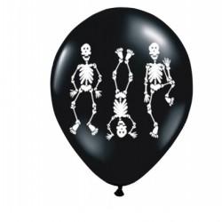 BALONY halloween Szkielety 6szt