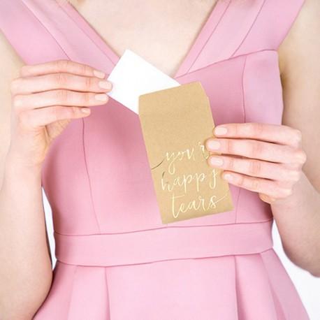 CHUSTECZKI dla gości na wesele Your happy tears 10szt