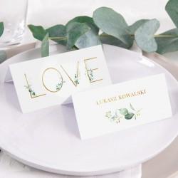 WINIETKA ślubna z nadrukiem Kwiatowe Love