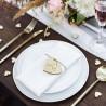 SERWETKI materiałowe na wesele plamoodporne 35x35cm 25szt BIAŁE