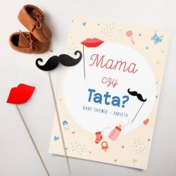 GRY Baby Shower Mama czy Tata? (+karteczki na piku)