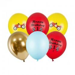 BUKIET z balonów na Roczek i urodzinki chłopca Autka Formuła 1