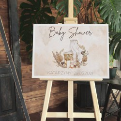 PLAKAT personalizowany na Baby Shower Boho 50x70cm