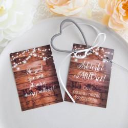BILECIKI do zimnych ogni ślub wesele Iskierki Miłości 10szt