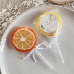 LIZAKI dla gości na wesele Białe Kwiaty Z IMIONAMI 10szt (+etykiety)