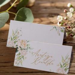 WINIETKA ślubna z nadrukiem Białe Kwiaty