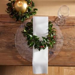 SERWETKI świąteczne flizelinowe Duni Białe 60szt