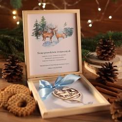PREZENT firmowy świąteczny craft w pudełku Leśny Dzień Z LOGO