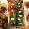 KOSZ prezentowy świąteczny Wino musujące+krówki Z NAZWĄ Zielony