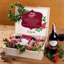 ZESTAW świąteczny firmowy w skrzyni prezent Christmas Classic Z LOGO