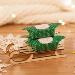 PREZENT świąteczny Sanki z krówkami Zielone Święta