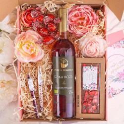 KOSZ prezentowy świąteczny Z PODPISEM Wino i czekolada MEGA DUŻY