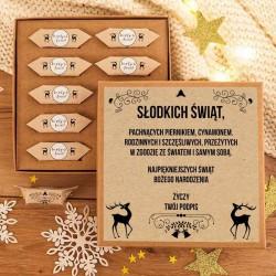 PREZENT świąteczny Pudełko z krówkami Z TWOIM PODPISEM Zimowy Wieczór