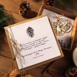 PREZENT firmowy świąteczny craft w pudełku Z LOGO
