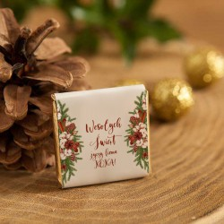 CZEKOLADKA świąteczna prezent firmowy Naturalne Święta