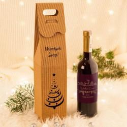 PREZENT świąteczny wino porzeczkowe EKO w opakowaniu Z TWOIM PODPISEM