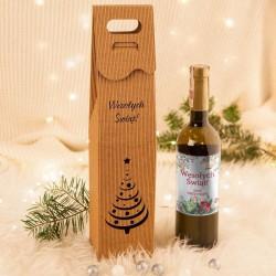 PREZENT świąteczny wino jarzębinowe EKO w opakowaniu Z TWOIM PODPISEM