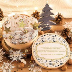 KOSZ prezentowy świąteczny SŁODKI Z NAZWĄ Bombki i Gwiazdki