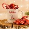 KUBEK świąteczny na prezent + cukierki Z IMIENIEM Świąteczne Sówki W OPAKOWANIU