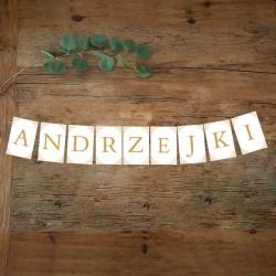 BANER girlanda na Andrzejki ZŁOTY