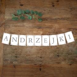 BANER girlanda na Andrzejki SREBRNY