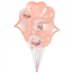 ZESTAW balonów na Roczek, urodziny bukiet Rosegold NEW